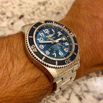 Breitling Superocean II 42 Steel 42mm Blue Arabic numerals United States of America, Texas, Fort Stockton