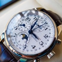 Longines Master Collection Steel 42mm Silver Arabic numerals United States of America, Iowa, Des Moines