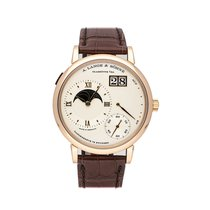 A. Lange & Söhne Rose gold Manual winding Silver No numerals 41mm pre-owned Grand Lange 1