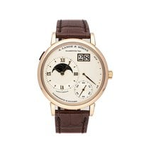 A. Lange & Söhne Grand Lange 1 pre-owned 41mm Silver Moon phase Date Leather