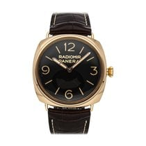 Panerai Rose gold Manual winding Brown 47mm pre-owned Special Editions