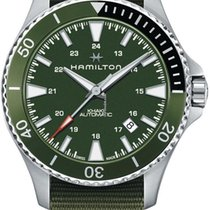 Hamilton Khaki Navy Scuba Steel 40mm Green United States of America, New Jersey, River Edge