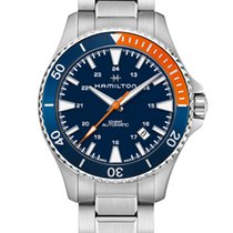 Hamilton Khaki Navy Scuba Steel 40mm Blue United States of America, New Jersey, River Edge