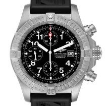 Breitling Avenger pre-owned 44mm Black Chronograph Date Rubber