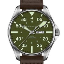 Hamilton Khaki Pilot Steel 46mm Green Arabic numerals United States of America, New Jersey, River Edge
