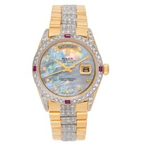 Rolex Automatic Mother of pearl No numerals 36mm pre-owned Day-Date 36