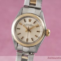 Rolex Oyster Perpetual 26 Guld/Stål 26mm Silver