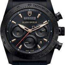 Tudor Fastrider Black Shield new Automatic Chronograph Watch with original box M42000CN-0005