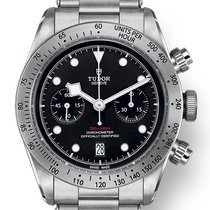 Tudor Black Bay Chrono Stål 41mm Svart Inga siffror