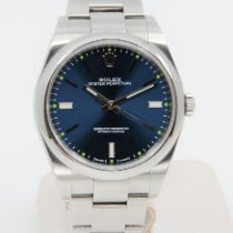 Rolex Oyster Perpetual 39 Stahl 39mm Blau Keine Ziffern Schweiz, Lausanne