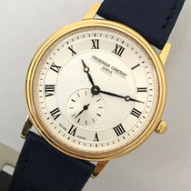 Frederique Constant Slimline pre-owned 34mm Silver Leather