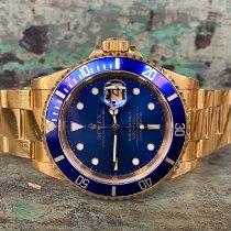 Rolex Submariner Date Geelgoud 40mm Blauw Geen cijfers Nederland, Goor