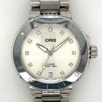 Oris Aquis Date Stahl 36.5mm Weiß Keine Ziffern Deutschland, Bielefeld