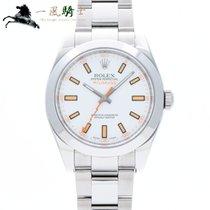 Rolex (ロレックス) ミルガウス 中古 40mm ホワイト ステンレス