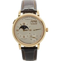 A. Lange & Söhne Red gold Manual winding Silver Roman numerals 41mm pre-owned Grand Lange 1