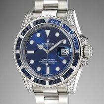 Rolex Submariner White gold 40mm Blue No numerals