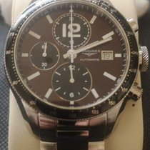Longines Grande Vitesse Steel 42mm Brown Arabic numerals