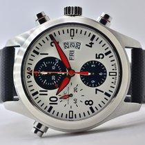 IWC Fliegeruhr Doppelchronograph gebraucht 44mm Schwarz Doppelchronograph Datum Leder