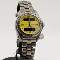 Breitling Emergency Титан 43mm Желтый Aрабские