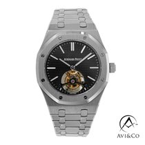 Audemars Piguet Royal Oak Tourbillon Steel 41mm Black No numerals United States of America, New York, New York