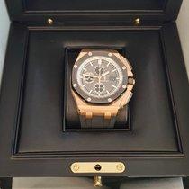 Audemars Piguet Ροζέ χρυσό Αυτόματη Γκρι 44mm καινούριο Royal Oak Offshore