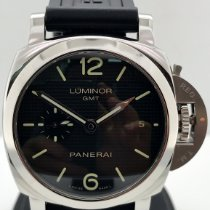 Panerai Luminor 1950 3 Days GMT Automatic pre-owned 42mm Black Date GMT Leather