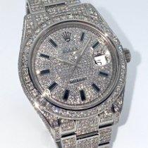 Rolex Datejust II Steel 41mm Silver (solid) Roman numerals