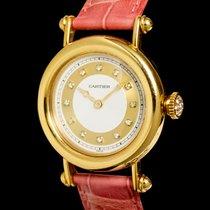 Cartier Diabolo Or jaune 33mm Argent Sans chiffres