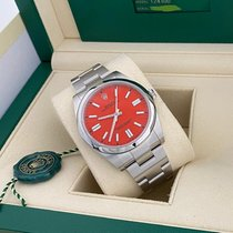 Rolex Oyster Perpetual Steel 41mm Red No numerals