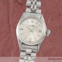 Rolex Oyster Perpetual Lady Date Or/Acier 25mm Argent