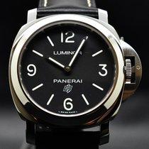 沛納海 Luminor Base Logo 鋼 44mm 黑色 阿拉伯數字