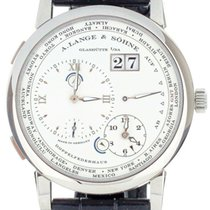 A. Lange & Söhne White gold Manual winding Silver 42mm pre-owned Lange 1
