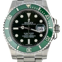 Rolex Green pre-owned Submariner Date