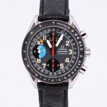 Omega Speedmaster Day Date Acier 39mm Noir Arabes