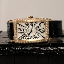 Franck Muller Yellow gold Quartz Silver 45mm pre-owned Long Island