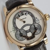 Montblanc Rose gold Automatic 43mm pre-owned Nicolas Rieussec