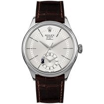 Rolex Cellini Dual Time 50529 New White gold 39mm Automatic