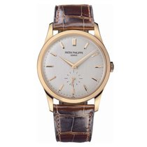 Patek Philippe Calatrava Rose gold 37mm Silver No numerals UAE, Dubai