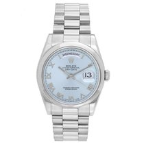 Rolex 118206 Platinum Day-Date 36 36mm pre-owned United States of America, Texas, Dallas