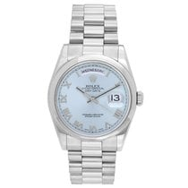 Rolex Day-Date 36 Platinum 36mm Blue Roman numerals United States of America, Texas, Dallas