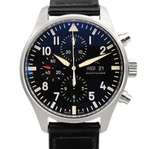 IWC Pilot Chronograph Acero 43mm Negro