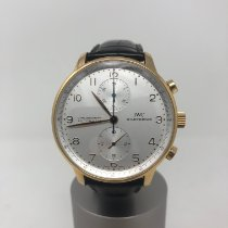 IWC Portuguese Chronograph Or rose 41mm Blanc Arabes
