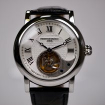 Frederique Constant Manufacture Heart Beat pre-owned 41mm Silver Crocodile skin