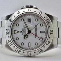 Rolex Explorer II Stahl 40mm Weiß Keine Ziffern