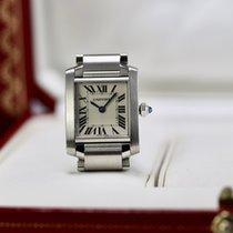Cartier occasion Quartz 20mm Blanc Verre saphir 3 ATM