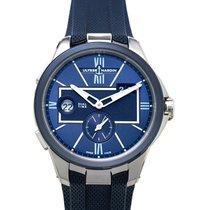 Ulysse Nardin Executive Dual Time Steel 42mm Blue