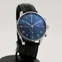 IWC Portuguese Chronograph Aço 41mm Azul Árabes
