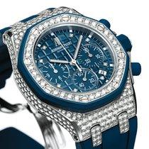 Audemars Piguet Or blanc Remontage automatique Bleu 37mm nouveau Royal Oak Offshore Lady