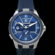 Ulysse Nardin Executive Dual Time Steel 42mm Blue United States of America, California, Burlingame