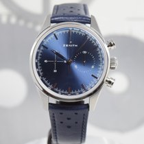 Zenith Steel Automatic Blue 38mm pre-owned El Primero Original 1969
